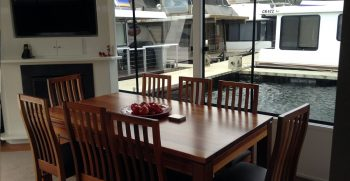 The Houseboat Factory Shiraz Dinning Area